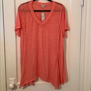 Avenue NEW Burnout Sharkbite Hem Tee 22/24